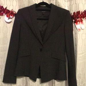 Dark gray pleated blazer